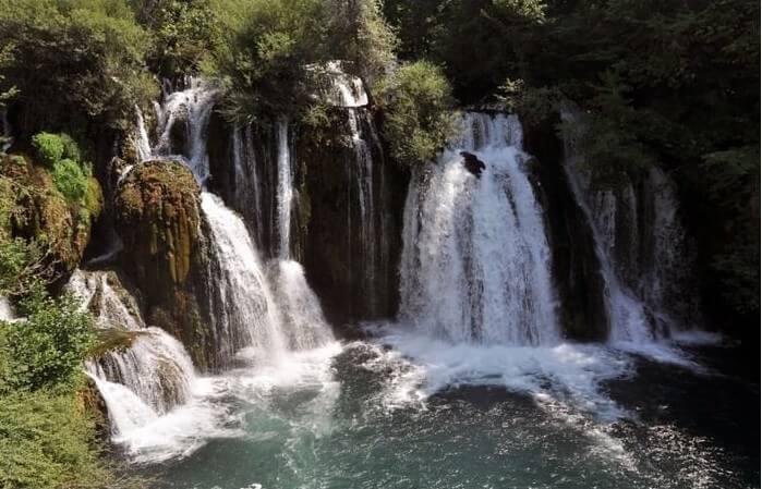 chutes Martin Brod sur la rivière Una Bosnie-Herzegovine