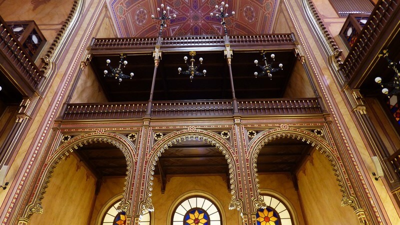 synagogue de Budapest intérieur