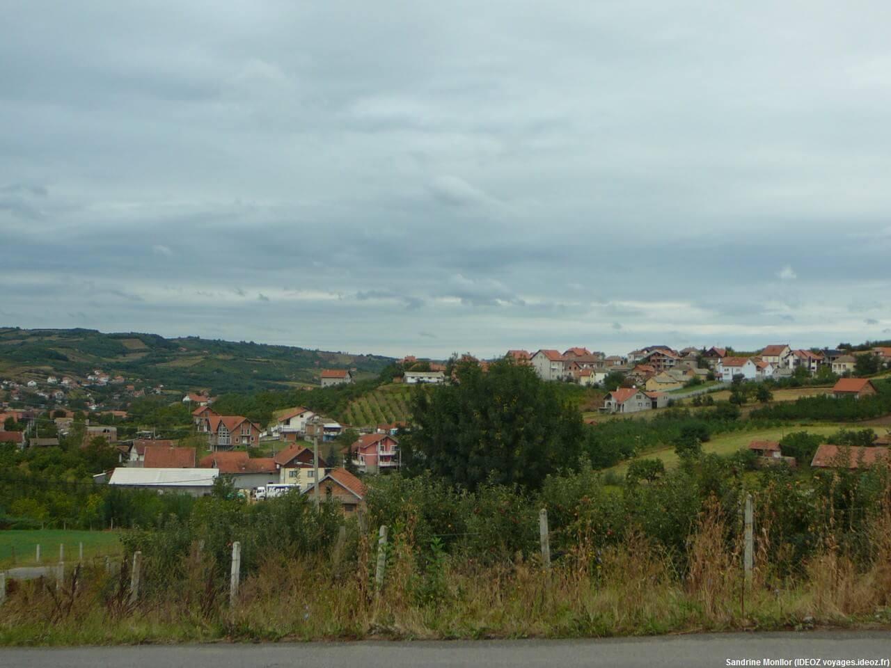 Paysage de la région de Pozarevac Umraci