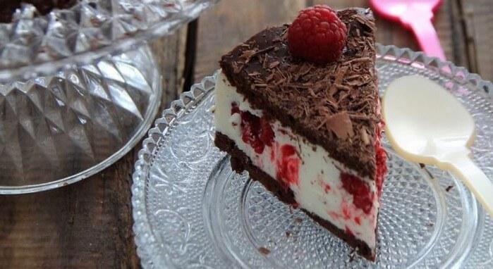 Schokoladen Himbeer Torte Gateau autrichien au chocolat et framboises
