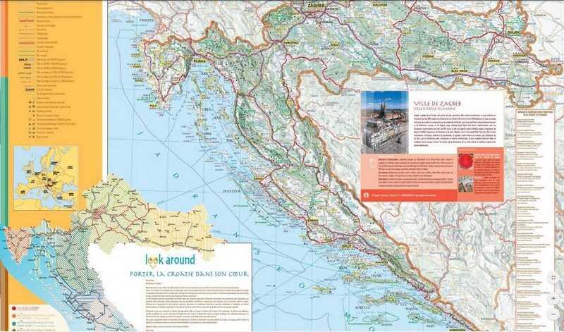 carte touristique de la croatie