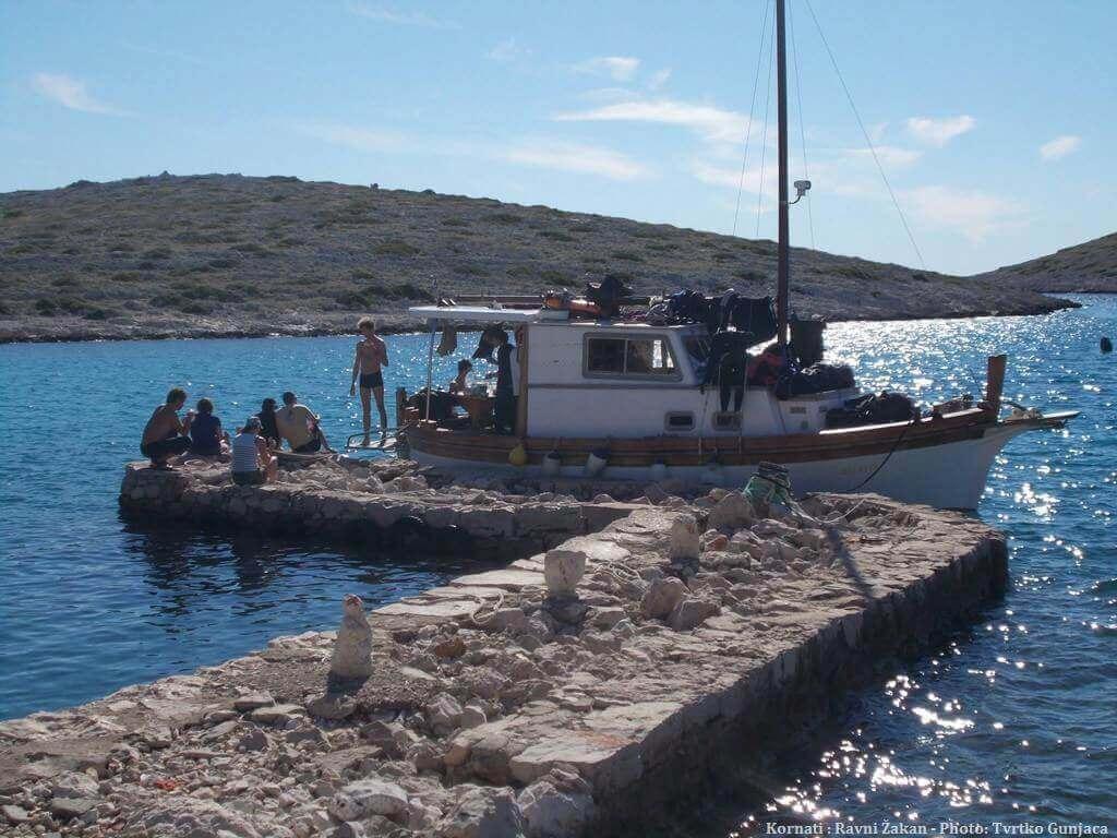 Kornati Ravni Zakan à bord du bateau de Tvrtko