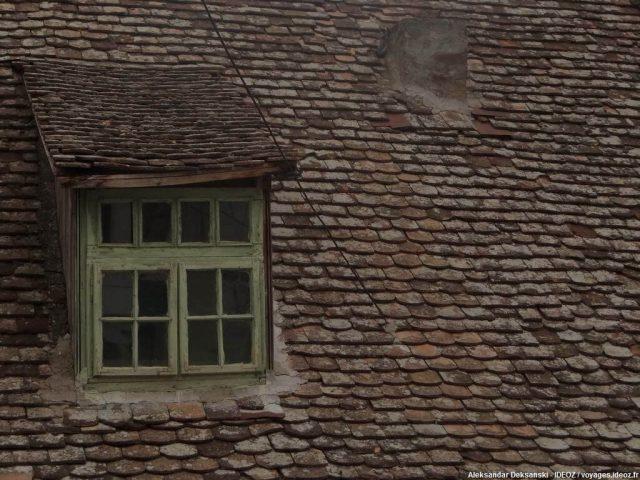 Ruma vieille fenêtre verte