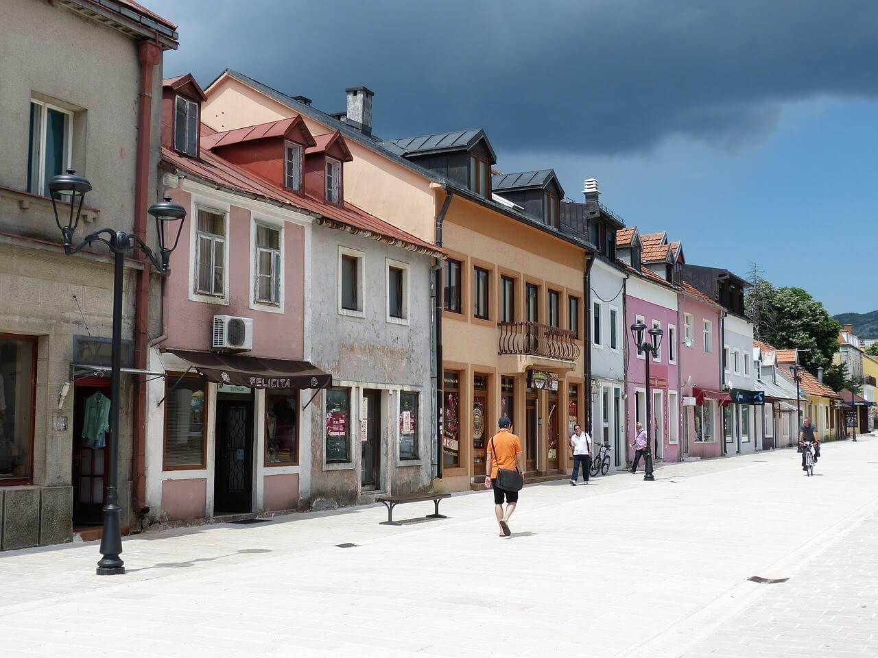 Ulica Njegoseva Rue principale de Cetinje