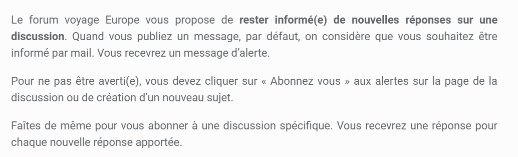 Abonnement au forum ideoz