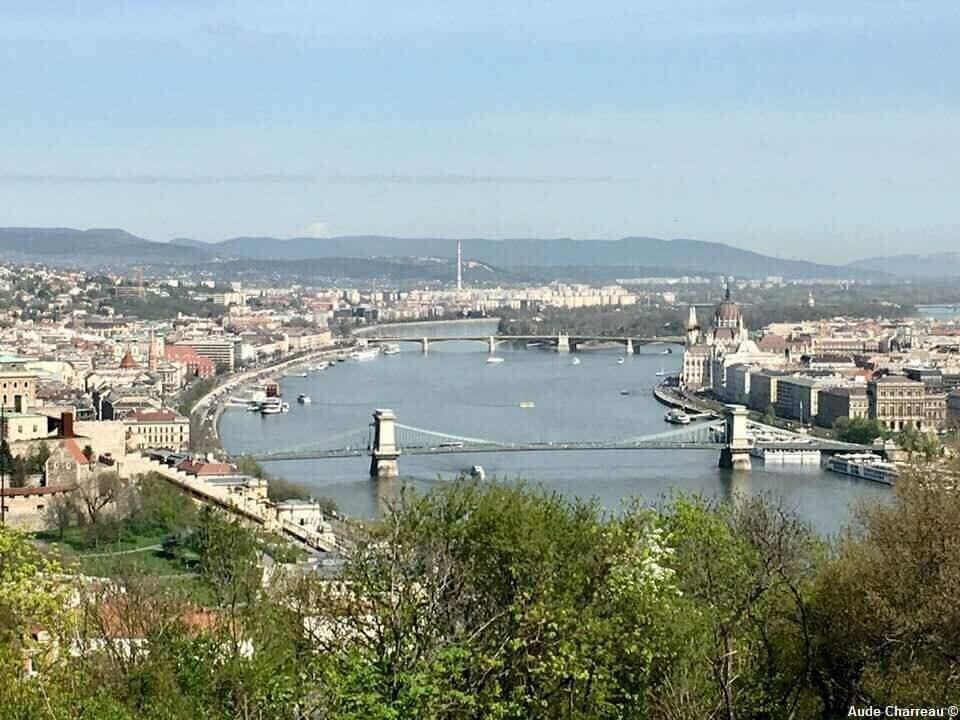 Budapest et le danube vus depuis la citadelle
