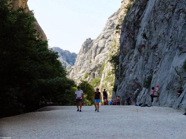 Entrée du canyon de Velika Paklenica