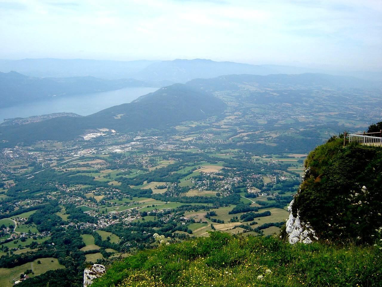 Lac du Bourget depuis le Mont Revard