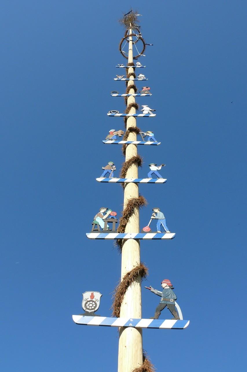Maibaum en Bavière