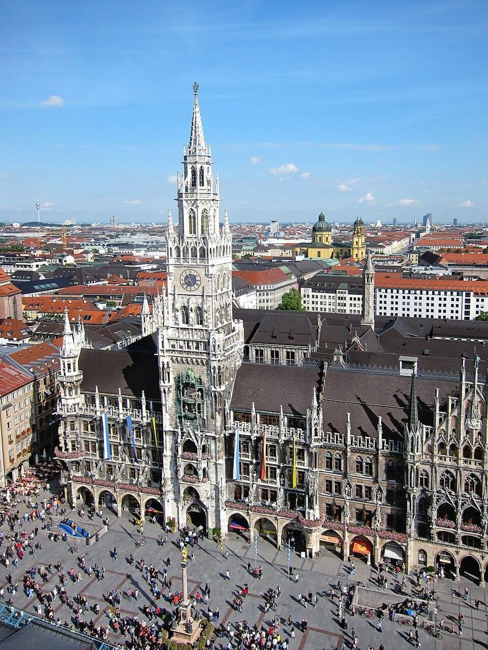 Munich alt rat haus ancienne mairie