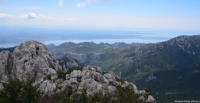 Panorama massif du Velebit dans le parc national Paklenica