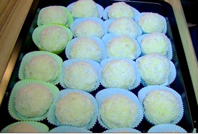 Schneeballen à la vanille