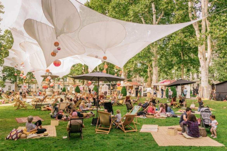parc zrinjevac en été à zagreb