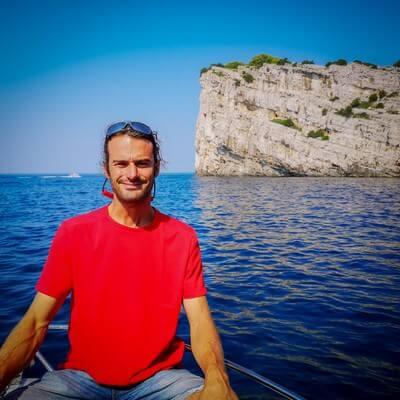 David Maksan skipper dans les Kornati