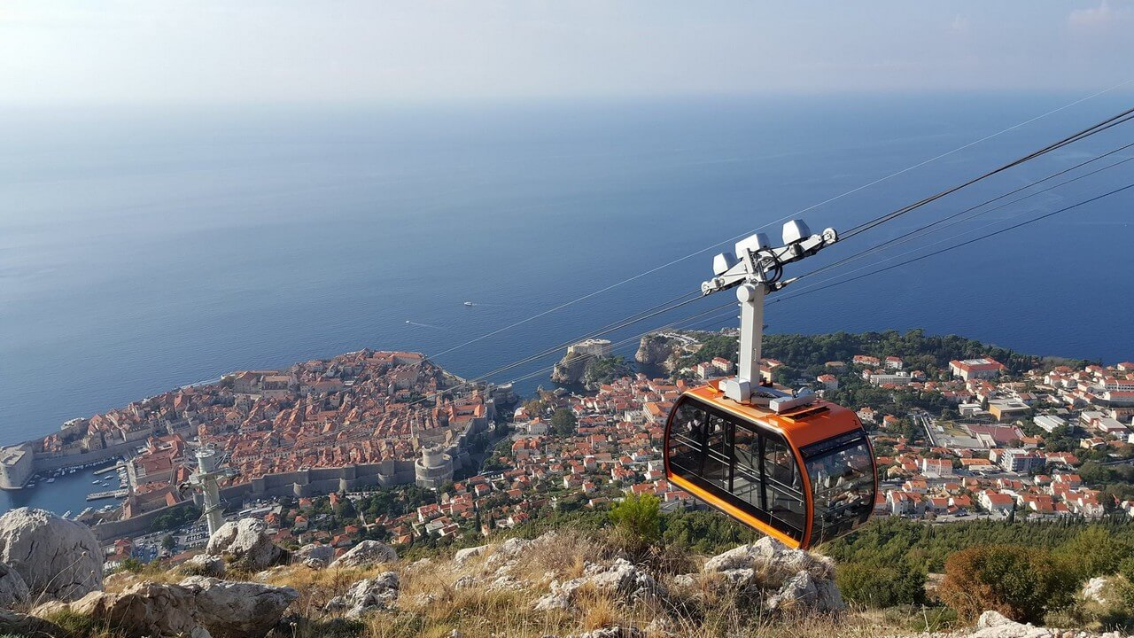 Dubrovnik cable Funiculaire zicara