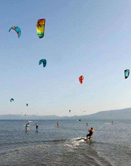 Kite surf sur la Neretva