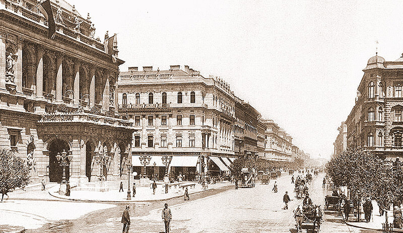 avenue Andrassy à Budapest en 1896