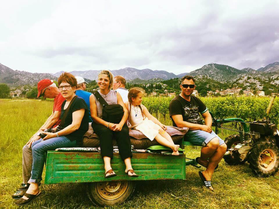 dans les vignes de Mélanie et Antonio à Stasevica