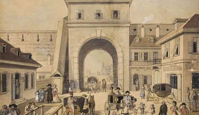 porte d'entrée Est du mur médiéval à Pest