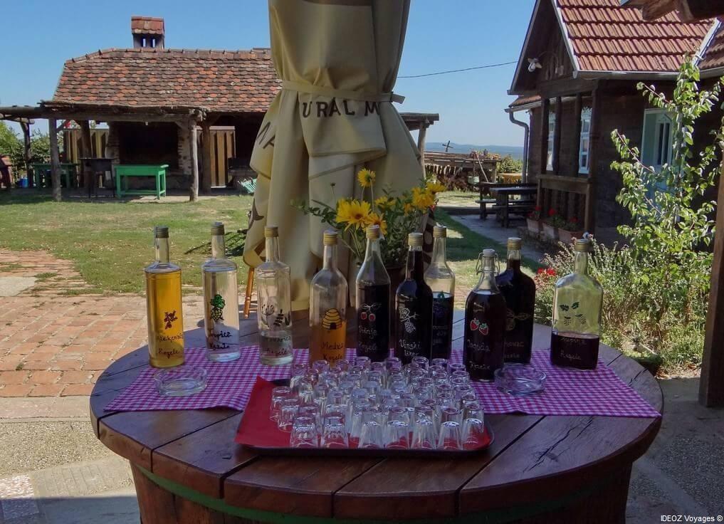 Agrotourisme Etno vino dégustation de rakija produits par Janko Kezele