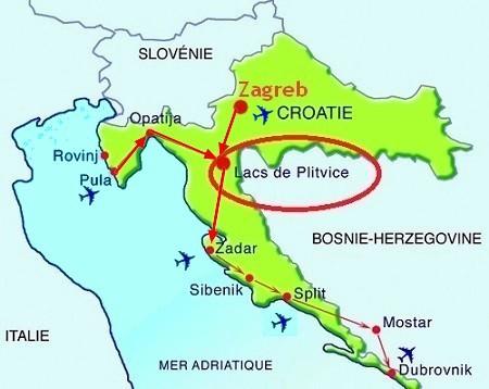 Croatie carte plitvice