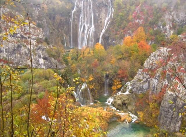 Grande chute de Plitvice en automne