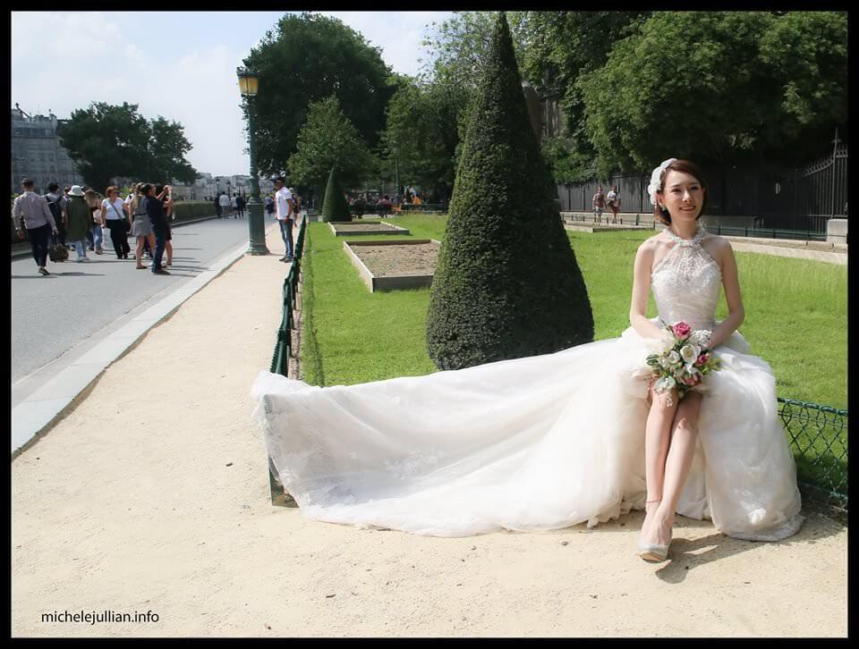 Jeune mariée chinoise à Paris