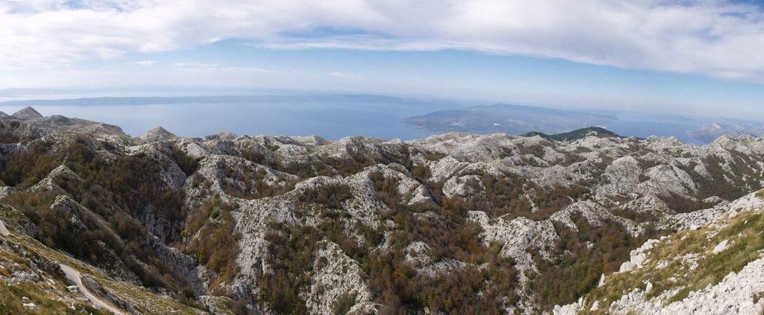 Panorama du massif de Biokovo depuis Sveti Jure