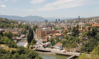 Panorama sur le centre historique de Sarajevo