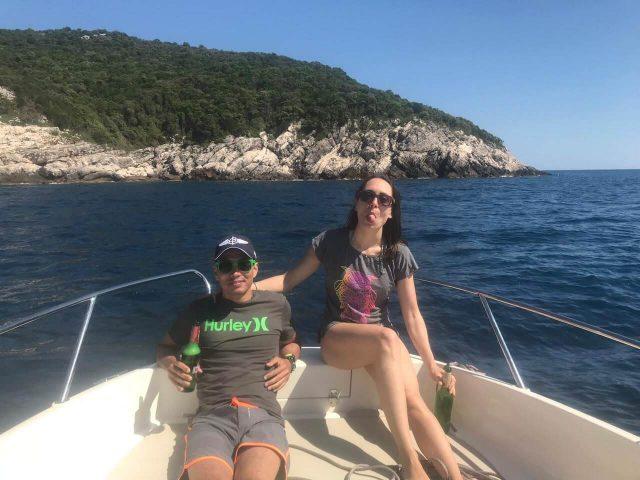 Sur le bateau de David skipper francophone en Dalmatie du nord