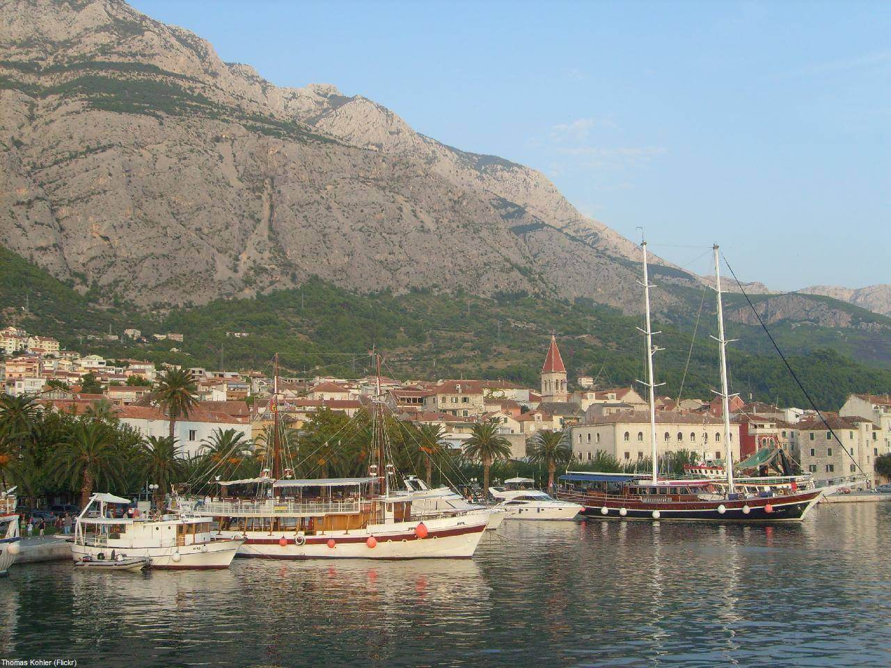 Ville de Makarska en Dalmatie centrale