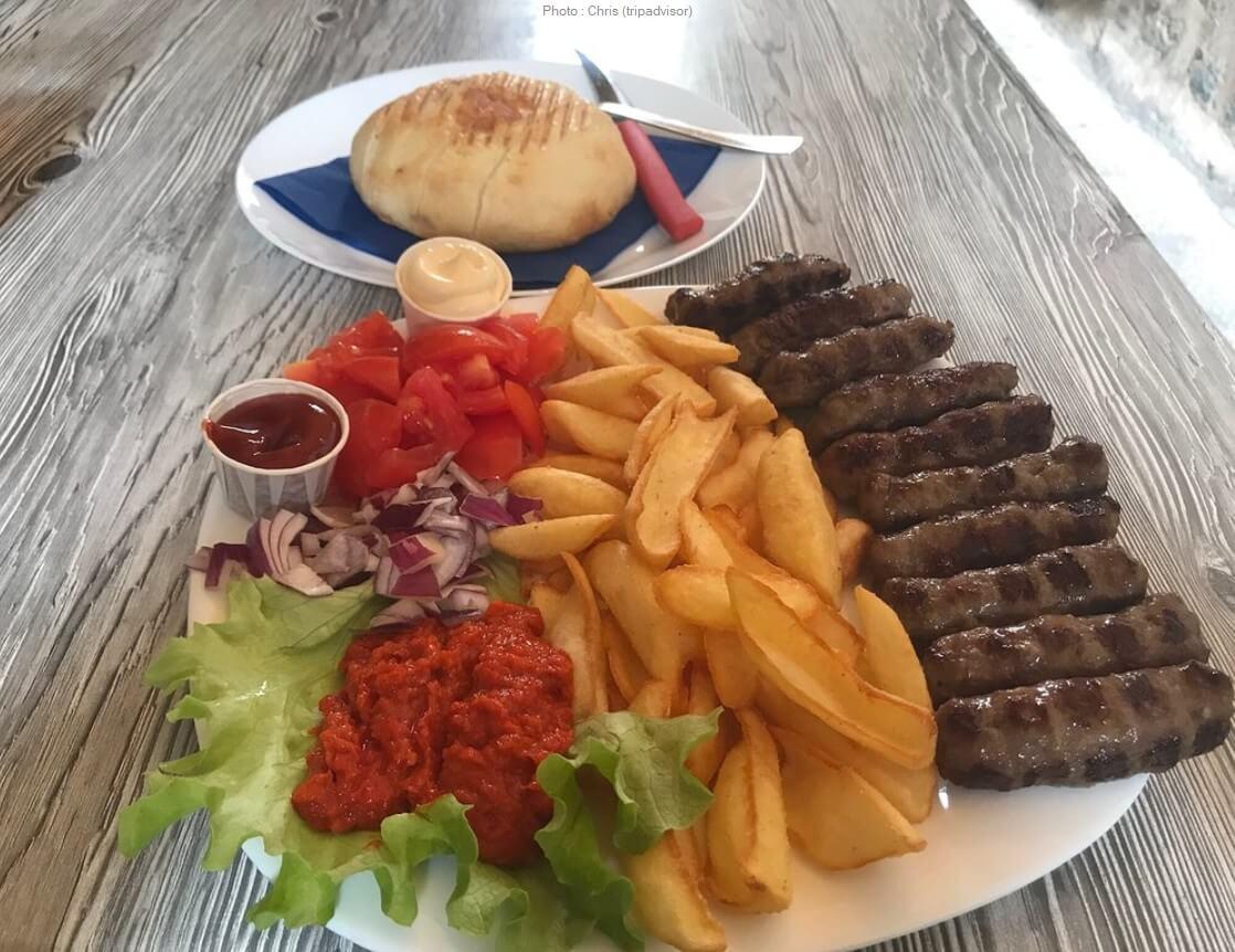 cevapcici au fast food Presa à Dubrovnik