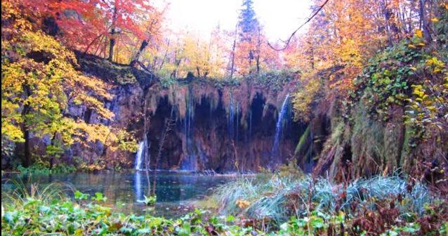 chutes de Plitvice en automne