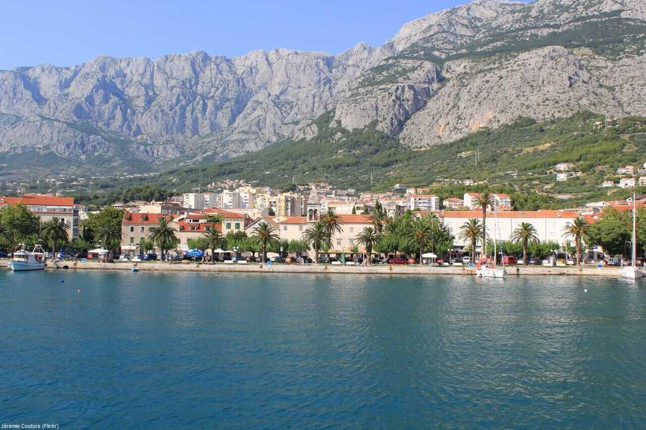 panorama sur Makarska et le biokovo
