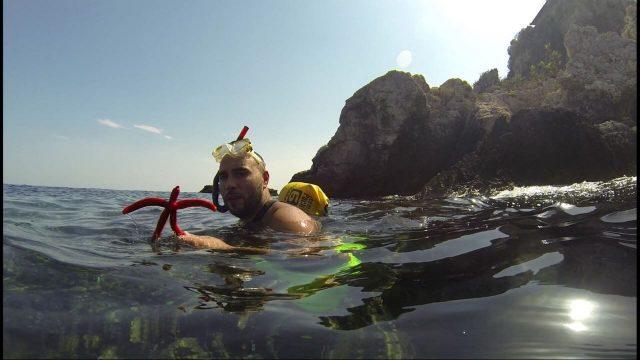 snorkeling dans les eaux de l'Adriatique près de l'ile de Molat