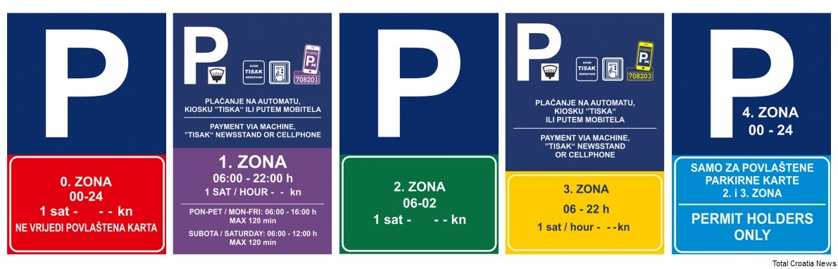 zones de parking à Dubrovnik