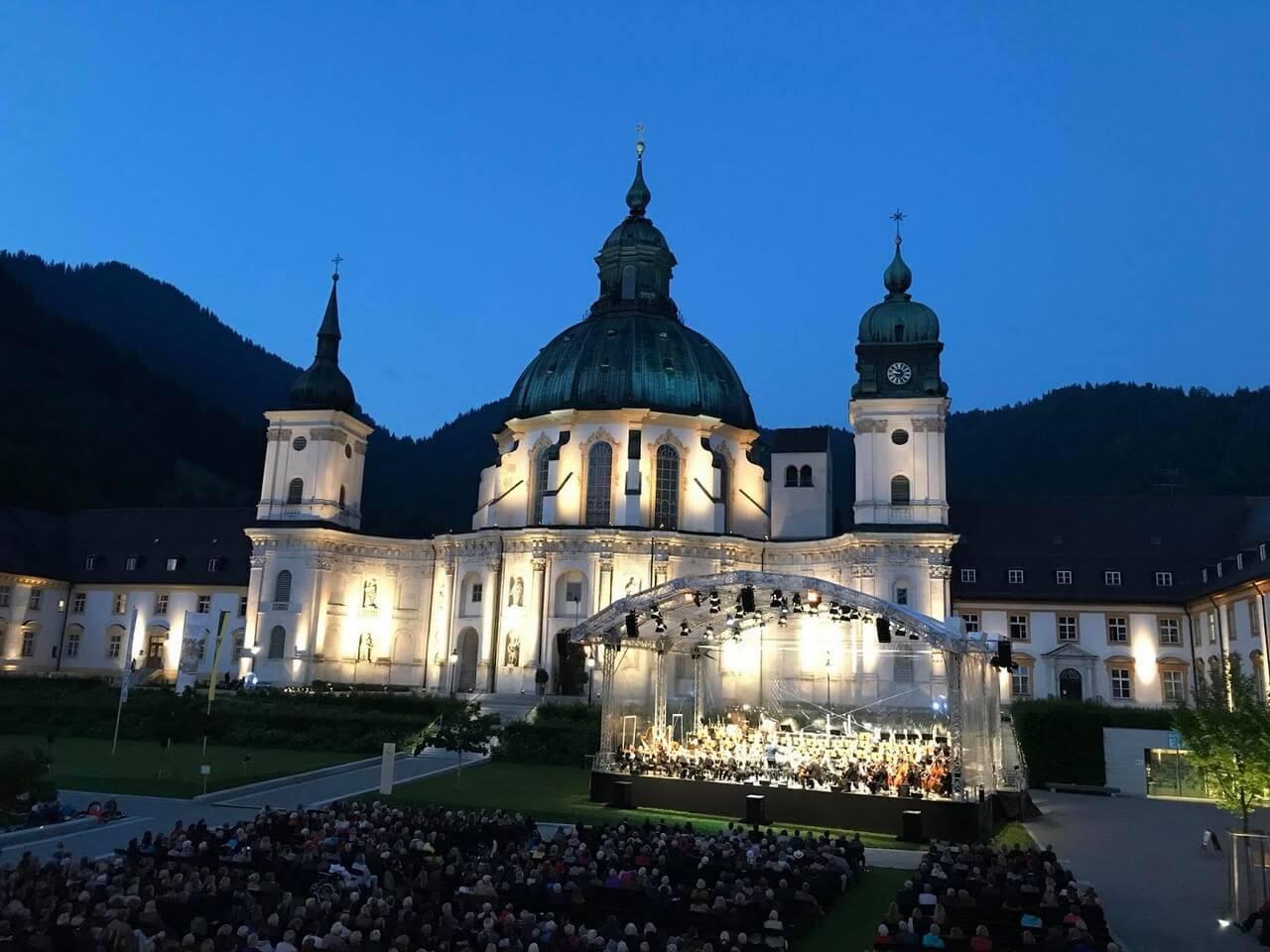 Abbaye d'Ettal en Bavière lors du festival Richard Strauss