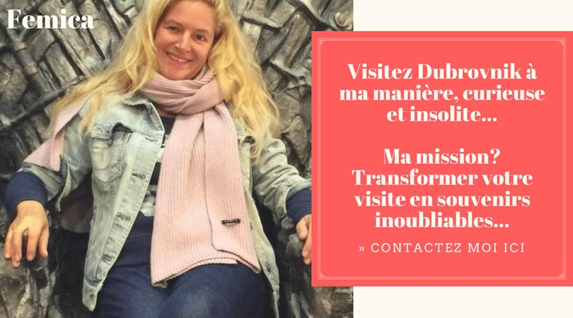 Anne Femica guide francophone à Dubrovnik