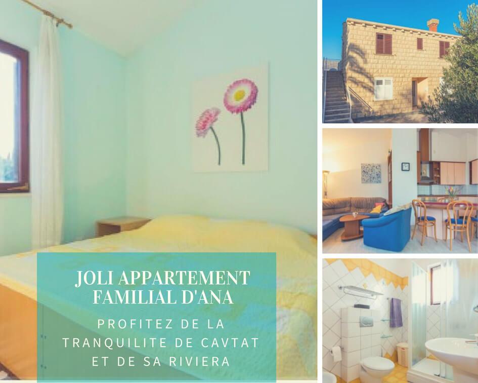 Appartement familial à Cavtat