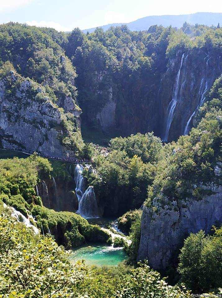 chute géante de Plitvice