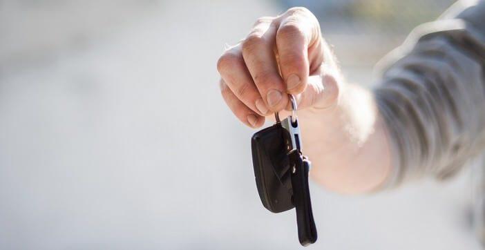 Clé de voiture de location