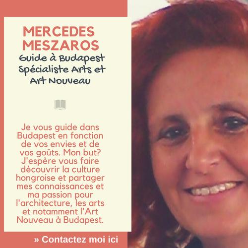 Mercedes Meszaros guide francophone à Budapest spécialiste de l'art nouveau