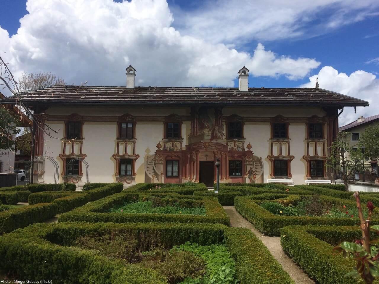 Oberammergau façade en trompe l'oeil