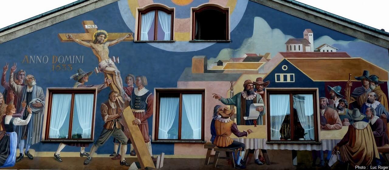 Peintures murales Luftlmalerei scènes religieuses de la passion du christ