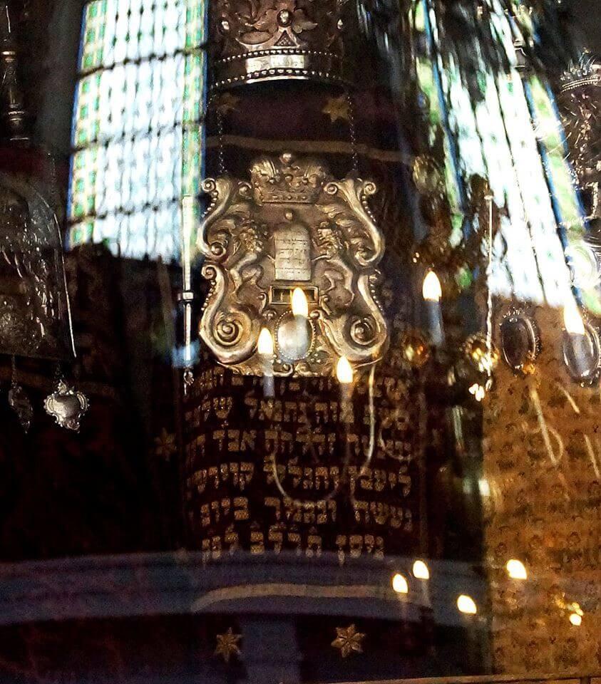 Torah à la synanogue vieille Nouvelle à Prague