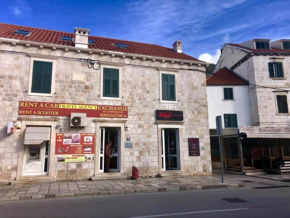 bureau de change du port de Gruz à Dubrovnik