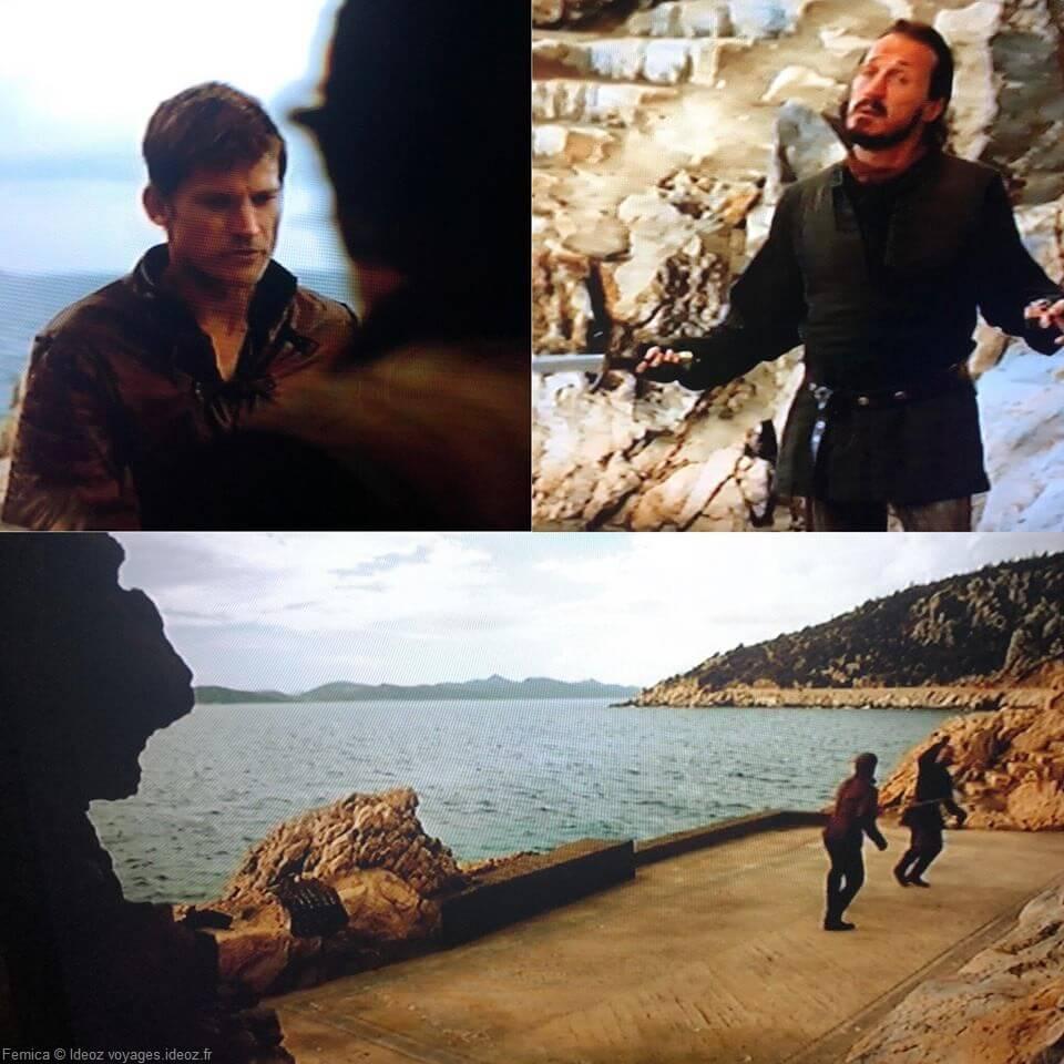 scènes de game of thrones en bord de mer à dubrovnik