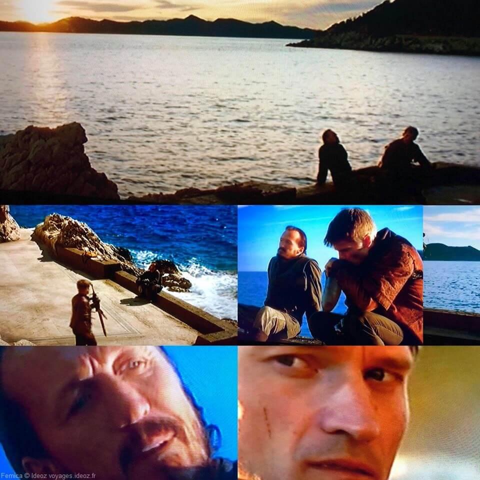 scènes pendant les tournages de GOT en croatie