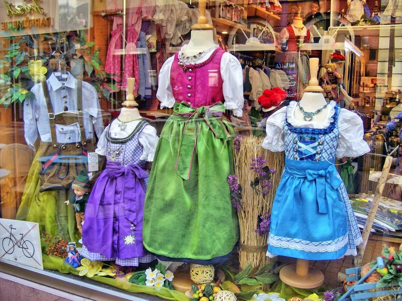 Boutique de robes traditionnelles bavaroises