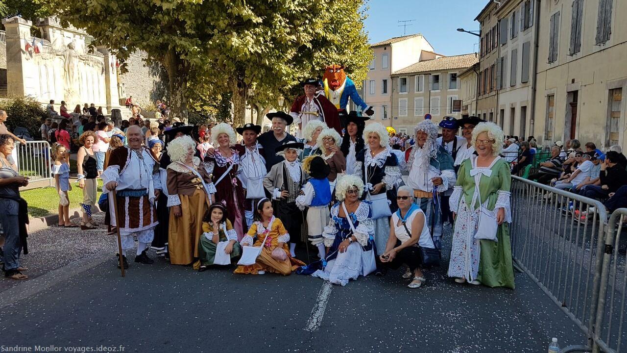 Corso fleuri lors de la fête du cassoulet de Castelnaudary 2018